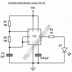 astable multivibrator using transistors transistorised With 555 timer