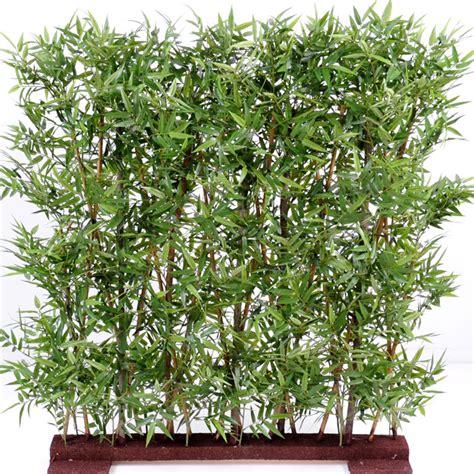 haie artificielle bambou feuillage dense int 233 rieur h 110 cm vert