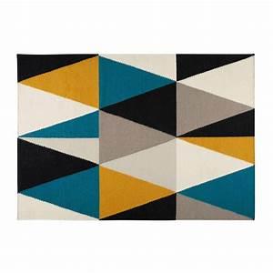 Tapis Motifs Triangles Multicolores 200X140cm ARCHI