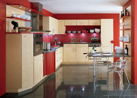 Pictures Of Kitchens-modern-red Kitchen Cabinets (page