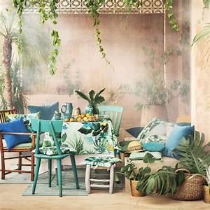 L39ete s39annonce exotique et boheme chez hm home marie for Salle de bain design avec décoration de table exotique