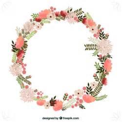 flowers wreath vector free