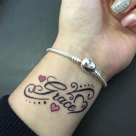 grace tattoo wrist daughter tattoos tatouage