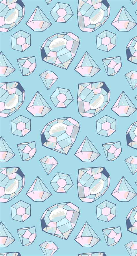 Tons of awesome cute pattern desktop wallpapers to download for free. Pin by Megan Anderson on WallPapers | Kawaii wallpaper, Cute wallpapers, Diamond wallpaper