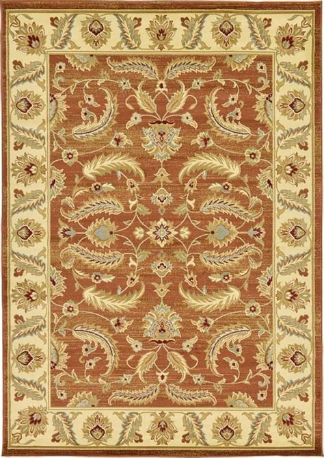 brick red classic agra area rug  images red area