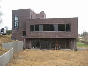 villa contemporaine sur versant a rixensart herve vanden With good extension maison en l 16 les vans de pierres et de bois