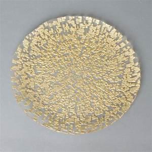 Assiette De Présentation : assiette de pr sentation or 33 cm ~ Teatrodelosmanantiales.com Idées de Décoration