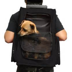 Oxgord Pet Dog Cat Carrier Rolling Backpack