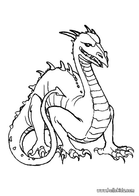 Coloring Dragons by Dangerous Coloring Pages Hellokids