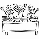 Lunch Ladies Coloring Surfnetkids sketch template