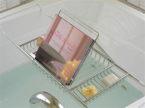 Bath Caddy With Reading Rack Australia by Jumbo Bath Caddy With Book Rack Transitional Bathroom