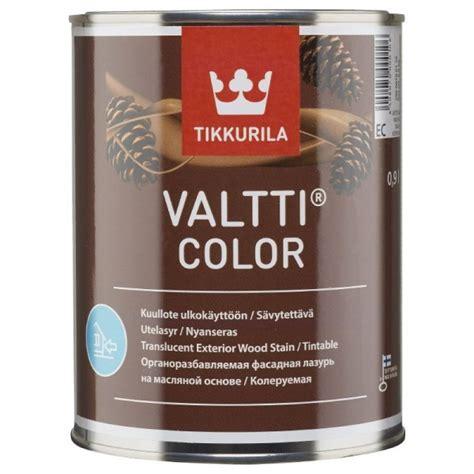 Tikkurila Valtti Color Semi-Transparent long life exterior wood finish protects the wood from UV ...