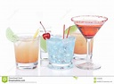 Different Types Of Cocktails Stock Photo - Image of hard ...