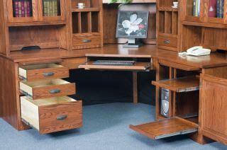 solid wood corner desk home office amish corner computer desk hutch home office solid wood