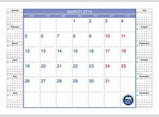 Blank Calendar for March 2018 Printable 2017 2018 2019