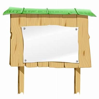 Board Vector Blank Wooden Bulletin Sign Paper