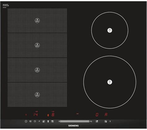 buy siemens iq700 eh675mn27e electric induction hob black free delivery currys