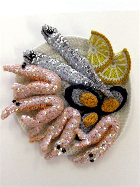 crochet cuisine incredibly creative food crocheted with yarn my