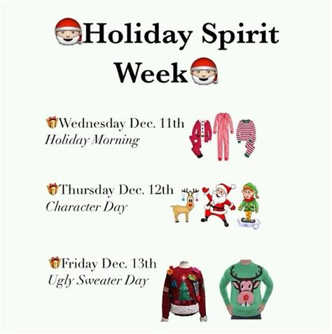 We'll be adding new ideas every week! Holiday Spirit Week 2013 - Lion Tales