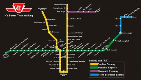 Parody Maps Rename Toronto's Neighbourhoods, Ttc Stations