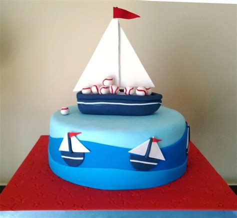 Boat Birthday Cake by Sail Boat Cake Cakecentral