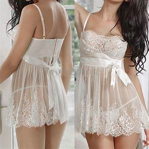 Pizzo Donna Lingerie Intimo Notte Abito Babydoll