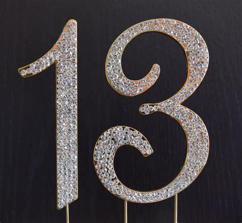 rhinestone gold number 39 cake rhinestone gold number 13 cake topper 13th birthday