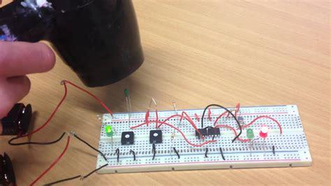 Electronics Temperature Sensor Circuit Breadboard