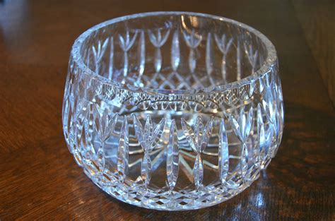 Glass Bowl Vase by Clear Cut Glass Bowl Vase Centerpiece
