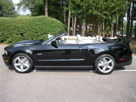 black  ford mustang gt convertible mustangattitude