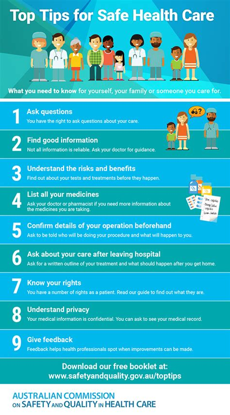 top tips  safe health care australian commission