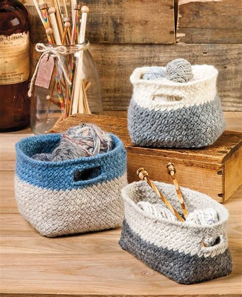 knitting pattern  modern cubist baskets easy basket