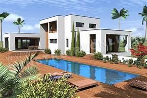 plan de maison contemporaine horizon With nice plan d une maison en 3d 10 maison plain pied en ossture bois ecologique