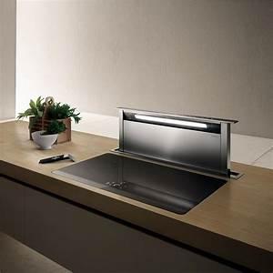 elica hotte escamotable adagio pour plan de travail With petite hotte de cuisine