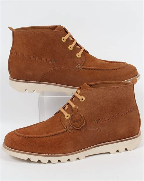 kickers moccasin suede kickers kymbo moccasins suede light brown boots shoe mens