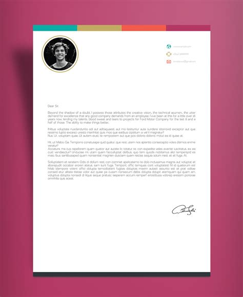 creative infographic resume template  cover