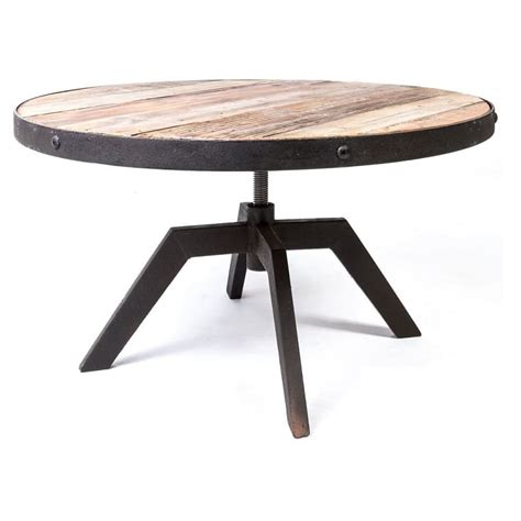 table basse industrielle ronde table basse ronde vintage industrielle m 233 tal vieux bois