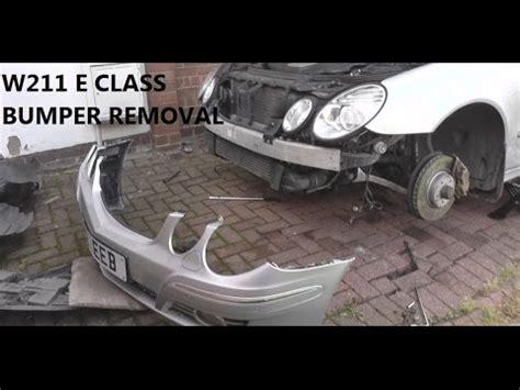 mercedes e class w211 front bumper removal guide