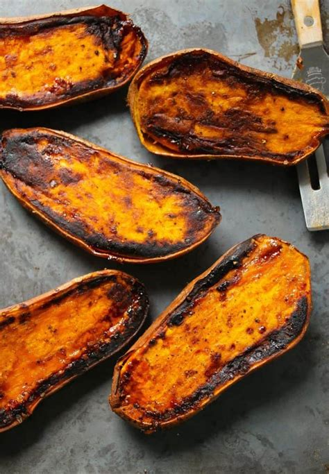 perfect  minute baked sweet potatoes layers  happiness