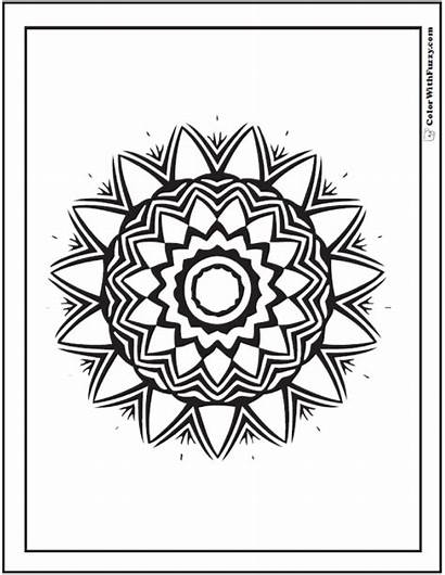 Coloring Geometric Pages Pattern Printable Circle Designs