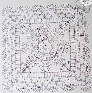 Ergahandmade  Crochet Motif Granny Square   Diagram