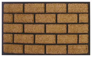 brick kitchen cabinets liner brick door mat id716rbcm traditional doormats 4889