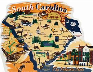 State Map, South Carolina The Cat's Meow Village