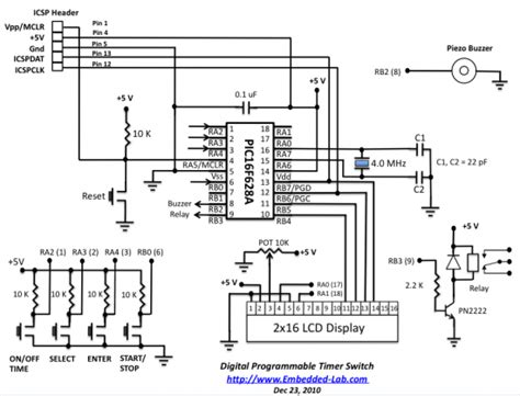 Programmable Digital Timer Switch Using Pic