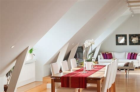 stockholm attic apartment charms   steep ceilings