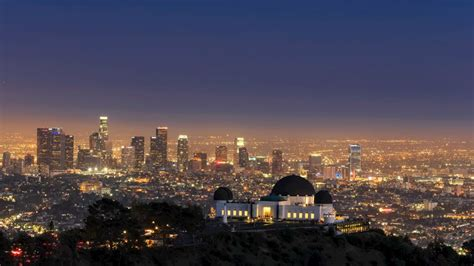 skyline  griffith observatory   evening los