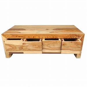 solid wood contemporary coffee table with storage drawer With designer coffee table with storage