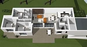 plan d39une maison contemporaine a rennes cocoon habitat With plan d une maison moderne