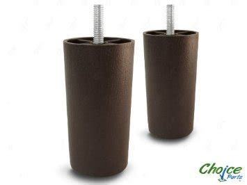 Plastic Sofa Legs Replacement by Choice Parts 4 Inch Walnut Plastic Sofa Legs Pack