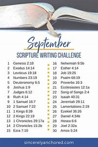 September Gratitude Journal  U0026 Scripture Writing Challenge